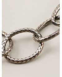 Bottega Veneta - Metallic Chain Necklace - Lyst