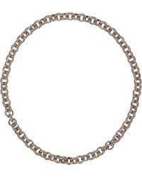 Munnu | Metallic Diamondencrusted Necklace | Lyst