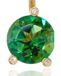 Delfina Delettrez | Gold Magic Triangle Earring With Green Topaz | Lyst