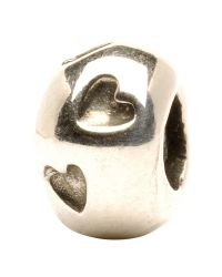 Trollbeads | Metallic 'heart Print' Silver Bead | Lyst