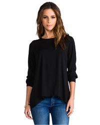 James Perse   Artist Blouse in Black   Lyst