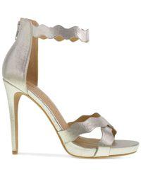 Chinese Laundry | Metallic Blossom Scalloped Platform Sandals | Lyst