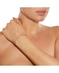 Cathy Waterman | Metallic Women's Scalloped Heart Charm Bracelet | Lyst