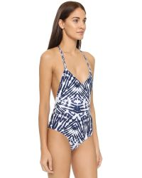 Mikoh Swimwear - Blue Copacabana Racerback One Piece - Lyst
