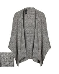River Island - Gray Grey Textured Mesh Cape for Men - Lyst