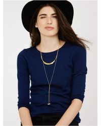 BaubleBar - Metallic Cosmos Tiered Necklace - Lyst