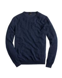 J.Crew - Blue Slim Italian Cashmere Crewneck Sweater for Men - Lyst