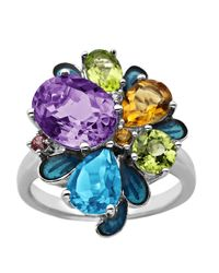 Lord & Taylor | Multicolor Sterling Silver Multi Semi-precious Stone Ring | Lyst