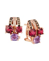 Le Vian - Multicolor Chocolate Diamond 16 Ct Tw and Diamond Accent Earrings in 14k Rose Gold - Lyst