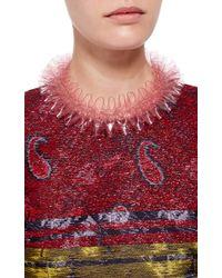 Mary Katrantzou | Pink Pvc Ruffle Collar Necklace | Lyst