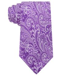 Geoffrey Beene - Purple Paisley Statement Tie for Men - Lyst