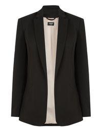 Oasis | Black Clean Ponte Jacket | Lyst