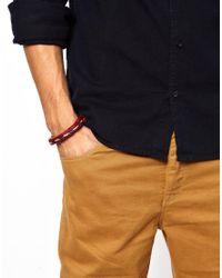 Chamula - Red Braided Bracelet for Men - Lyst