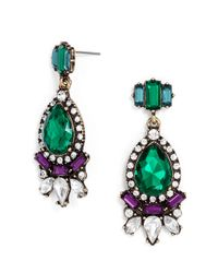 BaubleBar - Green Crystal Paisley Drops - Lyst