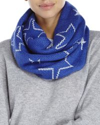 Betsey Johnson | Blue Star Struck Knit Infinity Scarf | Lyst