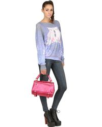 Golden Lane - Pink Small Duo Metallic Leather Satchel - Lyst