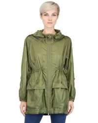 Add | Green Water Resistant Light Trench Coat | Lyst
