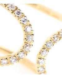 Roberto Marroni - 18kt Yellow Gold Ring With White Diamonds - Lyst