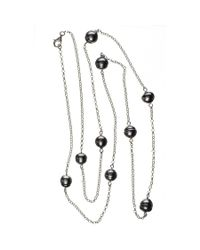 Black.co.uk - Ophelia Tahitian Black Pearl Infinity Necklace Description Delivery & Returns Reviews - Lyst