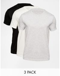ASOS - Multicolor T-shirt With Crew Neck 3 Pack And Relaxed Fit Save 17% for Men - Lyst