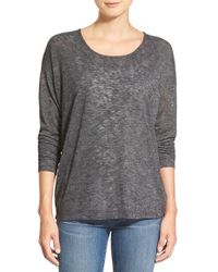 Bobeau | Gray Dolman Sleeve Sweater | Lyst