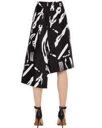 Cameo - Black Night Changes Printed Skirt - Lyst