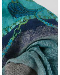 Avant Toi - Blue Printed Scarf - Lyst