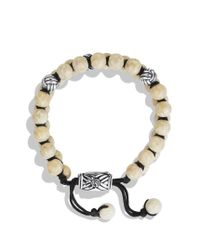 David Yurman | Metallic Spiritual Beads Tworow Bracelet with River Stone for Men | Lyst