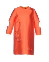 Jo No Fui - Orange Short Dress - Lyst