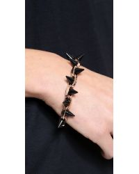 Joomi Lim - Metallic Black Out Double Row Spike Bracelet - Rose Gold/Black - Lyst