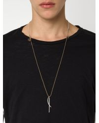 1-100 | Metallic Rope Necklace | Lyst