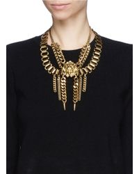 Ela Stone | Metallic Lion Nala Plastron Necklace | Lyst