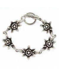 The Wildness Jewellery - Metallic Lotus Bracelet - Lyst