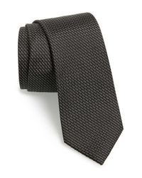 Calibrate - Black 'madagascar' Silk Tie for Men - Lyst