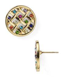 kate spade new york | Multicolor Little Ladybug Caining Stud Earrings | Lyst