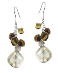 Lord & Taylor | White Smoky Quartz Cluster Bead Earrings | Lyst