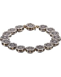 Munnu | Metallic Diamond, Gold & Silver Single Line Bracelet | Lyst