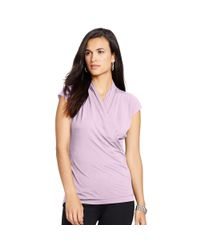 Ralph Lauren - Purple Surplice Stretch Jersey Top - Lyst