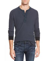 Eddie Bauer | Blue 'woodside - Ilaria Urbinati Collection' Trim Fit Henley Thermal for Men | Lyst