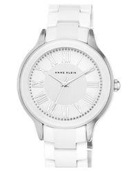 Anne Klein - White Ceramic Bracelet Watch - Lyst