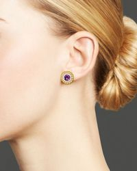 Lagos | Purple Sterling Silver And 18K Gold Stud Earrings With Amethyst | Lyst