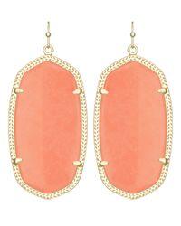 Kendra Scott | Pink Danielle Earrings, Coral | Lyst