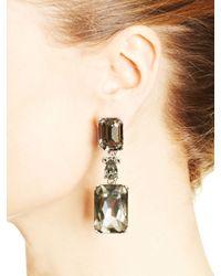 Oscar de la Renta - Black Diamond Octagon Stone Earrings - Lyst