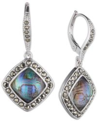 Judith Jack | Blue Sterling Silver Abalone (4-1/2 Ct. T.w.) And Marcasite Drop Earrings | Lyst