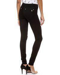 M.i.h Jeans - Black Oslo Midrise Velvet Skinny Jeans - Lyst