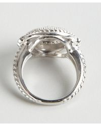 Judith Ripka   Metallic White Sapphire and Sterling Silver Circle Ring   Lyst
