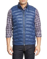 Peter Millar | Blue 'benjamin' Quilted Nylon Vest for Men | Lyst