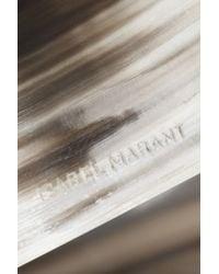 Isabel Marant | White Silvertone Faux Horn Cuff | Lyst