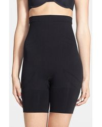 Spanx | Black High Waist Mid Thigh Shaper | Lyst