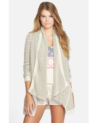 Rip Curl - Gray 'shambala' Open Front Cardigan - Lyst